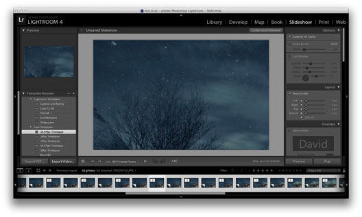 Time Lapse in Lightroom