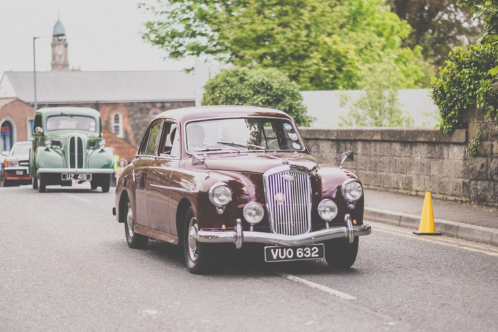 vintage car in the Lisburn Mayor's parade