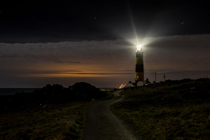St John's Point Lighthouse at Night