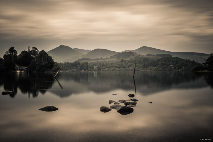 long exposure images of derwentwater