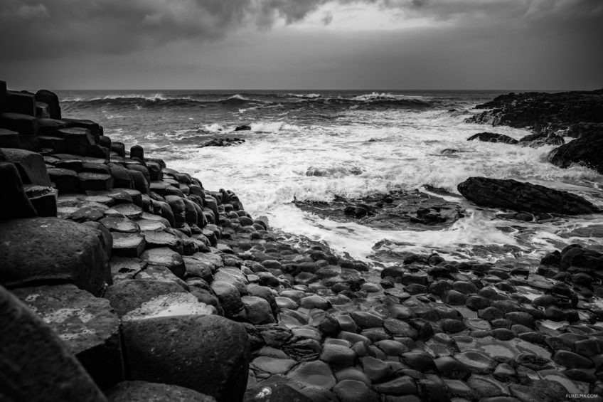 Giant's Causeway black and white